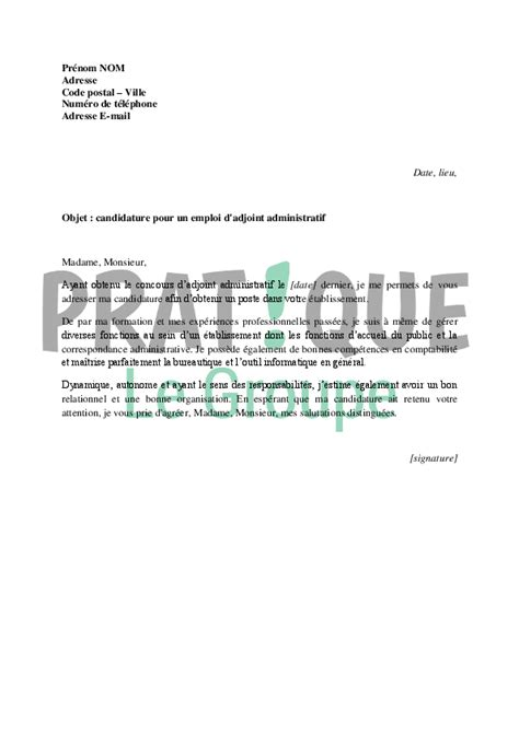 Exemple De Lettre De Motivation Technicien Territorial Modele Lettre De Motivation Adjoint Technique 2eme Classe Document