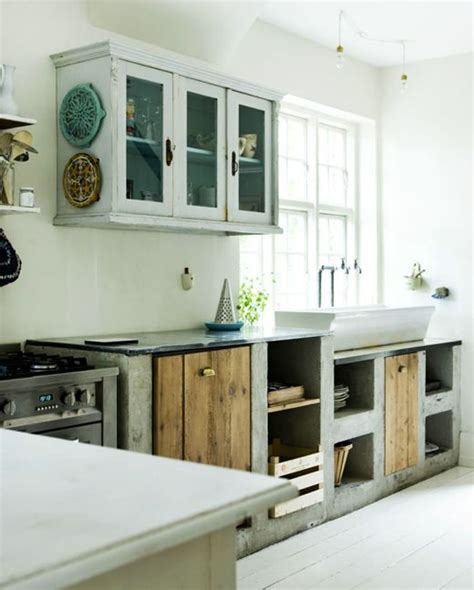 Cement Kitchen Cabinets Kitchen Concrete Style This And Farms