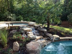 Ponds And Waterfalls For The Backyard Waterfall Swimming Pool Water Features Designs