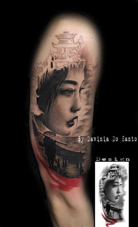 tattoo geisha n a lung mejores 20 im 225 genes de samurai en pinterest tatuaje de