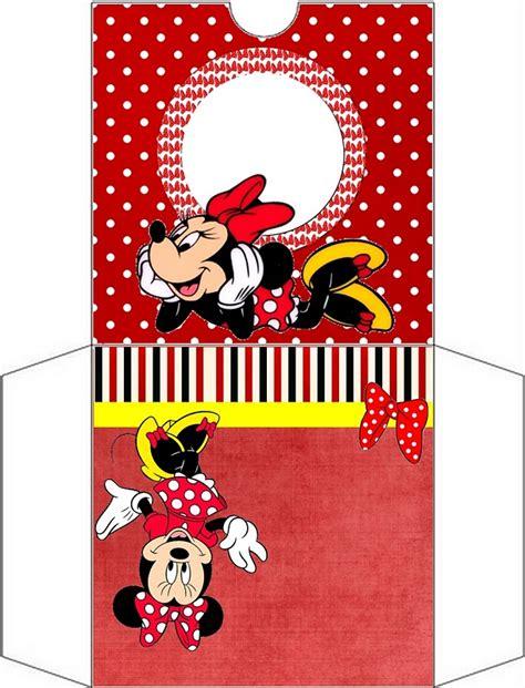 printable minnie mouse envelope imprimibles de minnie mouse en rojo ideas y material