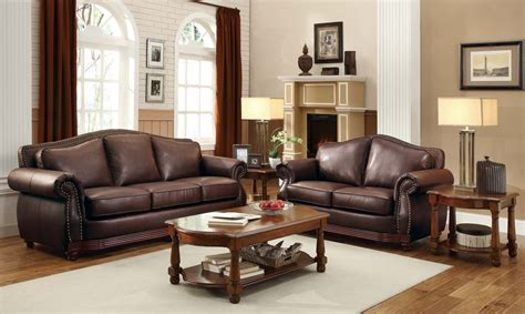 leather sofa sets homelegance midwood bonded leather sofa collection dark