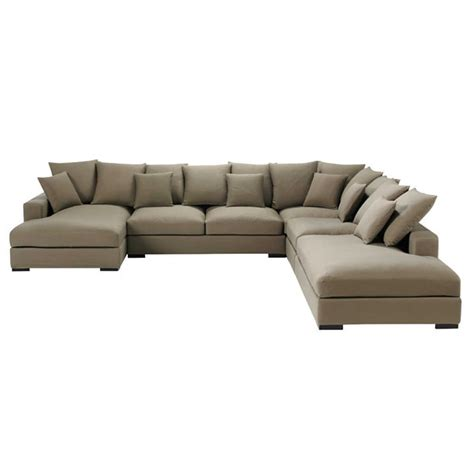7 seat sectional sofa 7 seater cotton modular corner sofa in taupe loft