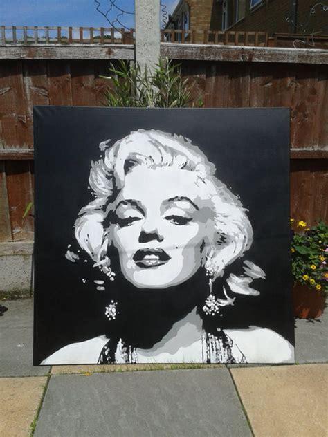 marilyn monroe paintingcanvaslargestencil artspray