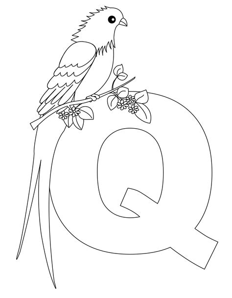 preschool coloring pages letter q free printable alphabet coloring pages for kids best