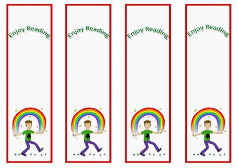 printable rainbow bookmarks rainbow bookmarks birthday printable