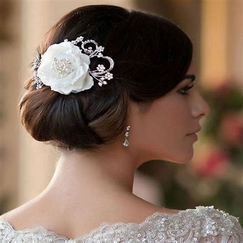 Vintage Wedding Hair With Flowers vintage flower wedding hair clip zaphira bridal