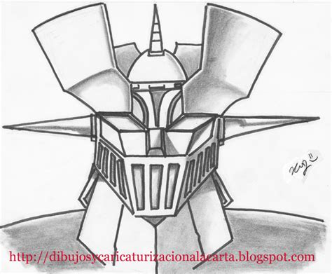 Imagenes De Mazinger Z Para Dibujar Faciles | dibujos y caricaturizacion a la carta dibujo mazinger z