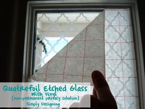 Etched Vinyl Projects - quatrefoil etched glass