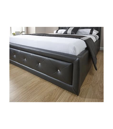 leather ottoman storage bed diamante leather ottoman storage bed