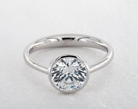 bezel set wedding band platinum bezel set solitaire engagement ring platinum james