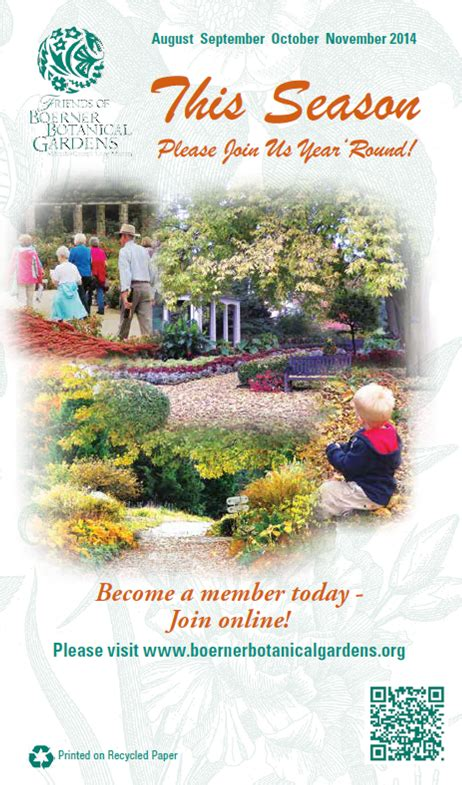 Friends Of Boerner Botanical Gardens Friends Of Boerner Botanical Gardens 187 Newsletter