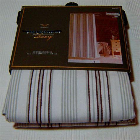 fieldcrest luxury shower curtain fieldcrest luxury brown grey white stripe fabric shower