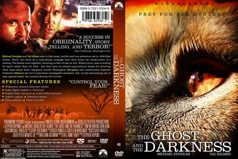 film ghost in the darkness the ghost and the darkness movie dvd custom covers
