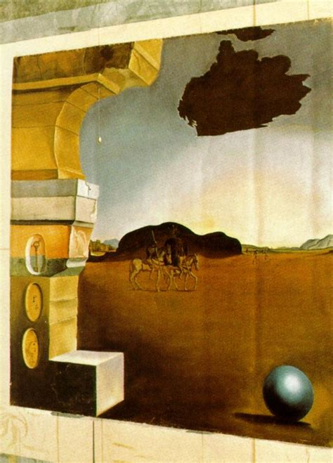 3 Paintings By Salvador Dali by Mural Painting For Helena Rubinstein Panel 3 Salvador