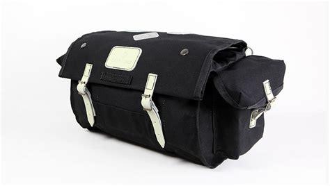 Carradice City Folder M Bag Black White Straps nelson longflap used