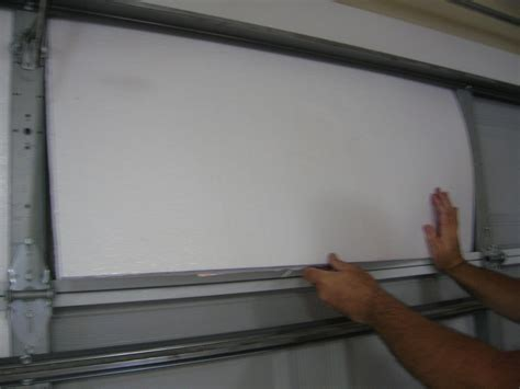 Insulating Garage Door With Styrofoam Living Stingy Insulating Your Garage Door For Cheap