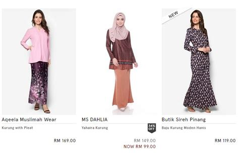 Zalora Baju Kurung Murah beli baju raya baju kurung moden ecommerce in malaysia