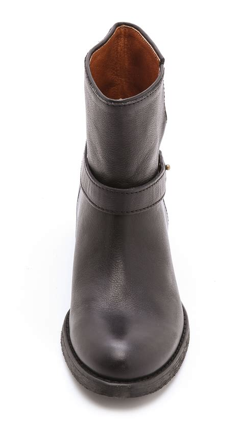 low moto boots madewell lowrider moto boots in black lyst
