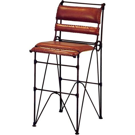 mexican bar stools leather copper collection sidro leather bar stool bst 1