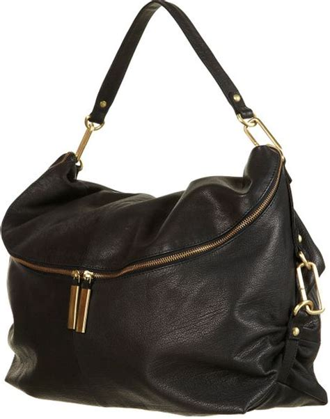 Leather Slouchy Satchel From Topshop by Topshop Clip And Leather Slouch Bag In Black Lyst