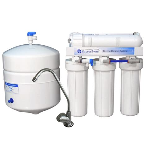 Shop Krystal Pure Triple Stage Reverse Osmosis Under Sink Water Filtration System For Kitchen Sink