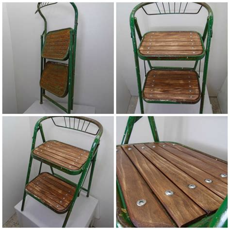 Green Step Stool by Custom Fabricated Furniture Gallery From Wood And Metal
