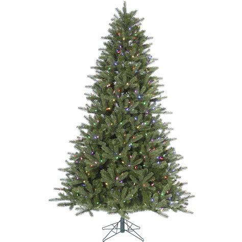 6 5 ft x 46 quot wide green kennedy fir led color artificial