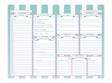 printable planner with time printable time management system for busy moms