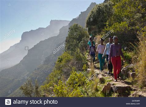 South High Children Hike Up Table Mountain