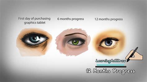 how to create digital doodle 1 years progress digital 12 months progress re drawing