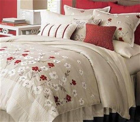 martha stewart cherry lane  piece queen comforter set blossom tan beige red cherries