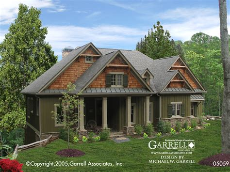 craftsman cabin sugarloaf cottage house plan 05059 front elevation
