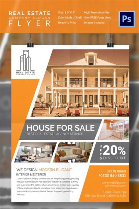 real estate for sale flyer template home for sale flyer template business