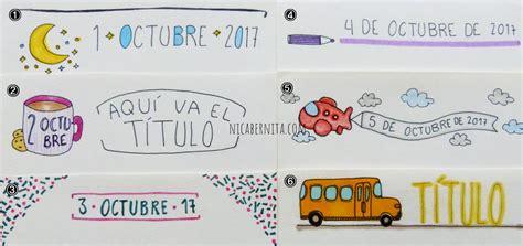 como decorar titulos para cuadernos m 193 rgenes para cuadernos ideas para decorar t 205 tulos y fechas
