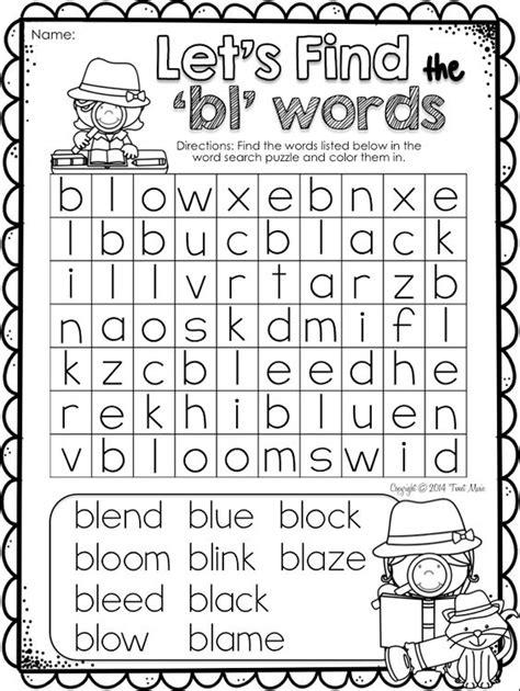 bl list consonant blend bl worksheets 1 consonant blends bl cl