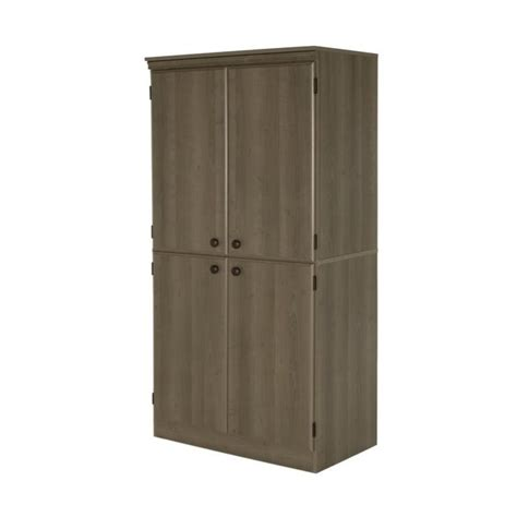 south shore storage cabinet south shore 4 door wood storage cabinet in gray