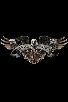 Kaos Harley Davidson Skull Wing trailer graphics on harley davidson eagles
