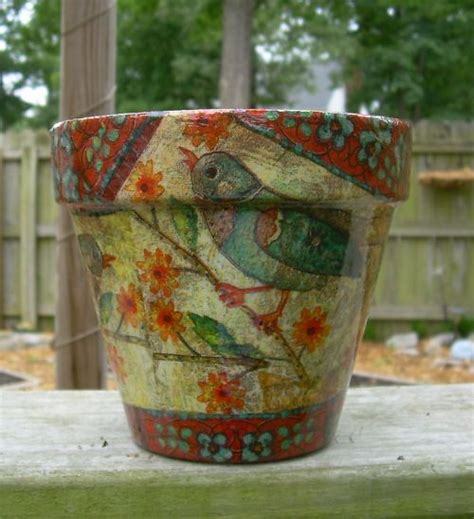 decoupage terracotta plant pots 17 best images about crafts pots vases on