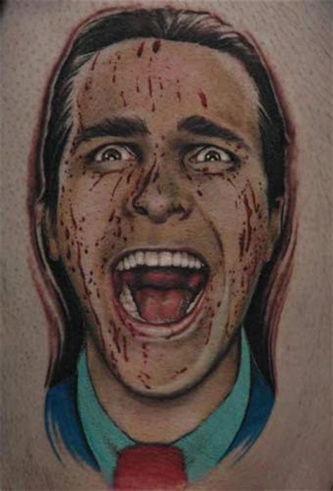 american psycho tattoo 50 most awesome inspired tattoos