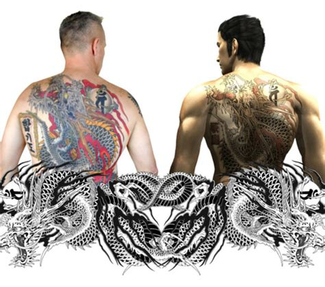 yakuza tattoo narellan nsw sydney man gets yakuza inspired tattoo gamespot