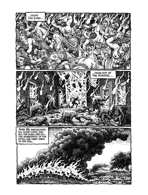 the book of genesis illustrated by r crumb exclusive sneak peek at ch 19 from the book of genesis