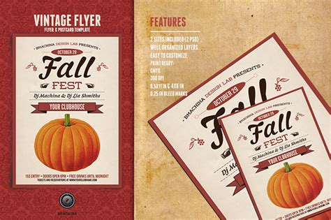 fall flyer poster templates on behance