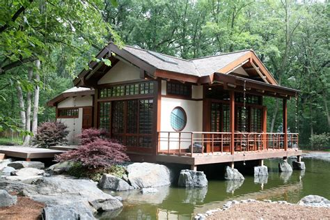Japanese Inspired Homes | grabill windows and doors asian inspired tea house