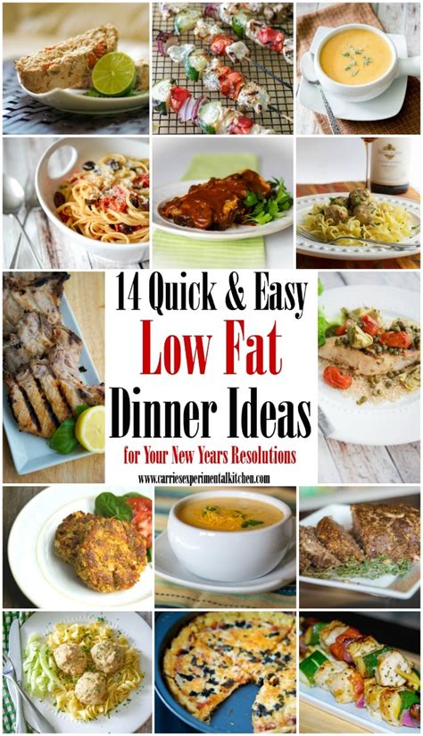 14 quick easy low fat dinner ideas for your new years