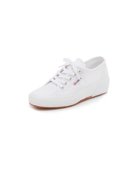 white wedge sneakers superga cotu wedge sneakers in white lyst
