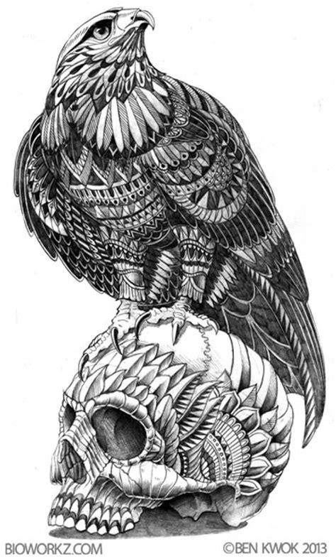 mandala eagle tattoo ornate animals by ben kwok at coroflot com