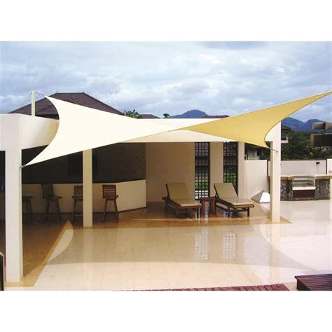 Sail Awning Shade by Coolaroo Premier 3 0 X 3 0m Square Beige Shade Sail