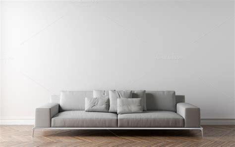wall couch white wall and sofa architecture photos on creative market