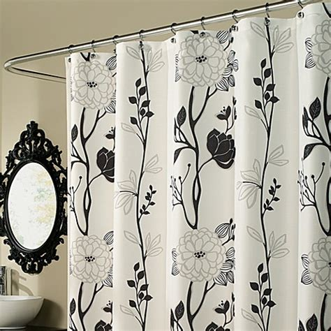 Black And White Bathroom Shower Curtain Buy Black And White Curtains From Bed Bath Beyond